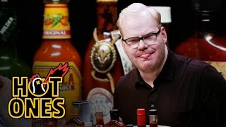 Download Jim Gaffigan Rediscovers His Flop Sweat Eating Spicy Wings | Hot Ones Video