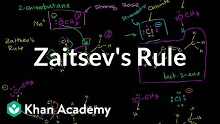 Download Zaitsev's rule | Substitution and elimination reactions | Organic chemistry | Khan Academy Video