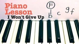 Download I Won't Give Up- Jason Mraz Piano Lesson (Todd Downing) Video