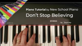 Download How to play Don't Stop Believing piano tutorial Journey Video
