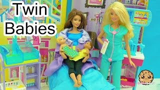 Download Dr. Barbie Baby Doctor - Twin Babies Are Born! Medical Doll + Twozies with Surprise Blind Bags Video