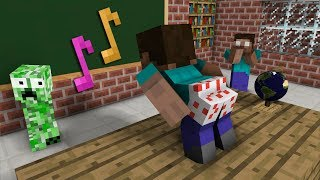 Download Monster School: The Mobs Caught Steve Dancing in the Classroom - Minecraft Animation Video