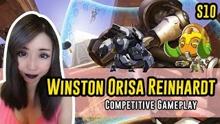 Download Overwatch - Ranked Winston Reinhardt Orisa gameplay on Temple of Anubis - My team is arguing 👹 Video