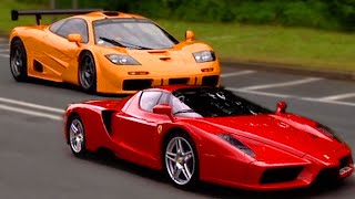 Download Ferrari Enzo vs McLaren F1 - Fifth Gear Video