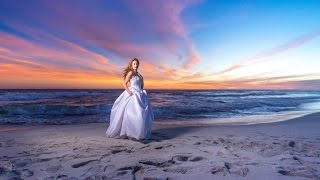 Download Trash the dress bridals on Pensacola Beach using High Speed Sync Video