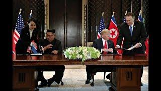 Download Hier unterzeichnen Trump und Kim die historische Vereinbarung Video