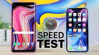 Download Samsung Galaxy Note 9 vs iPhone X Speed Test! Video