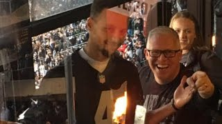 Download Steph Curry Caught Wearing A Raiders Jersey At Panthers Game Video