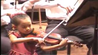 Download (1/2) Anna Lee 6 years old playing Paganini Violin Concerto Video