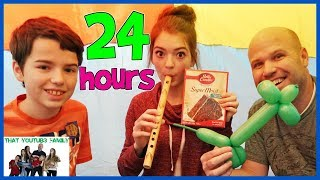 Download 24 Hours Overnight In Air Box Forts! / That YouTub3 Family Video