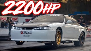Download 2200HP 240sx on 80lbs of Boost - Mind Blowing Speed! Video