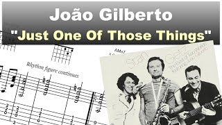Download João Gilberto - ″Just One of Those Things″ - Virtual Guitar Transcription by Gilles Rea Video