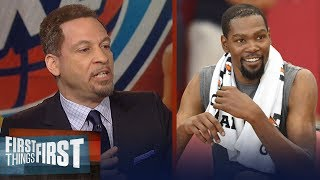 Download Chris Broussard on Durant's best option if the Warriors win another title | NBA | FIRST THINGS FIRST Video