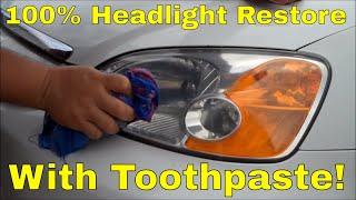 Download Headlight Lens Restore using Toothpaste! Video