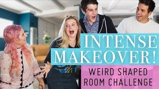 Download Weird Shaped Room Challenge! Drastic Makeover Video