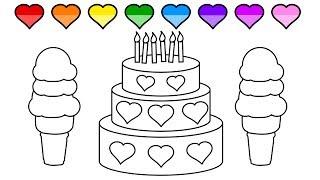 Bagaimana Menggambar Kue Cara Menggambar Dan Mewarnai Tv Anak Free