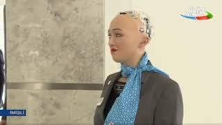 Download İlham Əliyevin robot Sofiya ilə söhbəti Video
