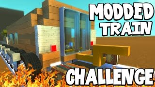 Download Scrap Mechanic - MODDED TRAIN CHALLENGE! VS AshDubh - [#48] | Gameplay Video