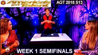 Download Shin Lim Card Magician Part1 with Heidi &Tyra SENSATIONAL Semifinals 1 America's Got Talent 2018 AGT Video