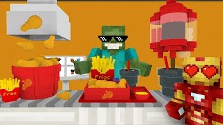Download Monster School: WORK AT FRIED CHICKEN PLACE! - Minecraft Animation Video