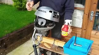 Download Honda 2.3 hp Outboard Engine Winterisation Video
