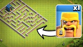 Download ONE TROOP vs TH12 IMPOSSIBLE MAZE BASE! - Clash Of Clans Video