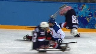 Download BRUTAL ice sledge hockey hits | Sochi 2014 Winter Paralympics Video