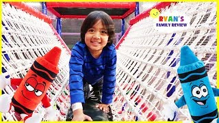 Download Crayola Experience Giant Indoor Kids play area with Ryan's Family Review! Video
