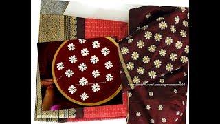 Download #35 బూటి డిజైన్ చీర మరియు బ్లౌస్ కోసం || Small butis design for blouses and sarees Stylish Trends Video