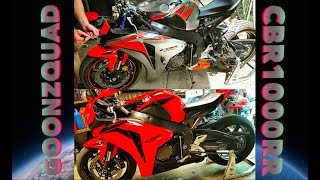 Download Rebuilding A Wrecked Motorcycle CBR1000RR Video