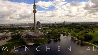 Download MÜNCHEN MUNICH from above in 4K - Aerial View Drohne Marienplatz Allianz-Arena Olympiapark BMW Video