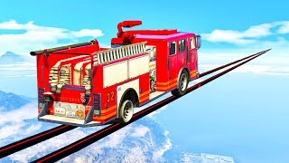 Download EXTREME MILE LONG FIRE TRUCK TIGHTROPE! (GTA 5 Races) Video