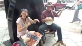 Download Turned Earth busking ″Cotton Eye Joe″ Asheville Street Music Video