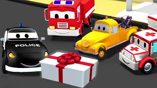 Download The Car Patrol: fire truck and police car, and Mat's Birthday in Car City | Truck Cartoon for kids Video
