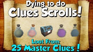 Download Loot From 25 Master Clue Scrolls! [Runescape 3] Dying to do Clues! Video