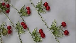 Download İğne oyası kiraz modelinin anlatımlı yapılışı & How to make cherry pattern ? Video