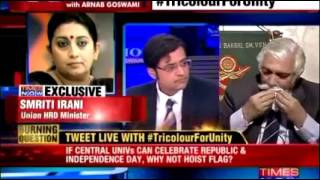 Download Emotional moments in the Times Now News Hour by Arnab Goswami Video