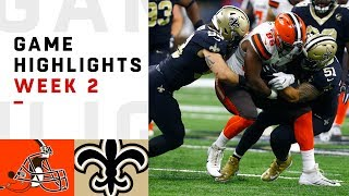 Download Browns vs. Saints Week 2 Highlights | NFL 2018 Video