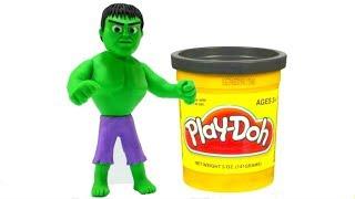 Download Make A Superhero Hulk Play Doh Cartoon Superhero Babies Stop Motion Animations Video