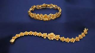 Download Saudi 22k Gold Bracelets Designs with Light Weight Video