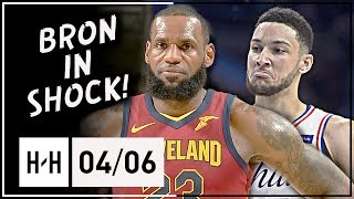 Download Ben Simmons vs LeBron James AMAZING Triple-Doubles Duel Highlights (2018.04.06) - KING vs PRINCE! Video