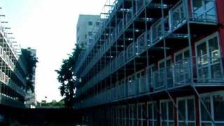 Download Amsterdam High-Rise Shipping-Container Housing Complex Video