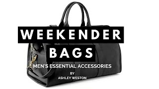 Download Weekender Bag - Men's Essential Accessories - Duffle Holdall Carryall Leather Canvas Video