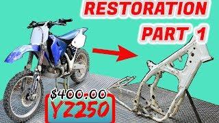 Download $400 YZ250 Restoration! Pt. 1 THE TEAR DOWN!!! Video