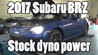 Download 2017 Subaru BRZ stock power numbers from the dyno Video