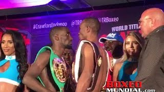 Download Official Weigh-in: Terence Crawford 140 vs. Julius Indongo 139 Video