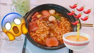 Download មីហិល shyleafs កំរិត7ឈ្ងុយឆ្ងាញ់ | Popular Korean Spicy Noodle Restaurant in Cambodia Video