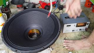 Download [Minh loa] Loa sân khấu, hướng dẫn thay màng Subwoofer bị rách (Speakers repair) Cần Thơ - Part 2 Video