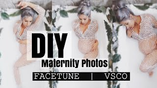 Download How to Milk Bath Maternity photos|| How To Edit Facetune + VSCO Video