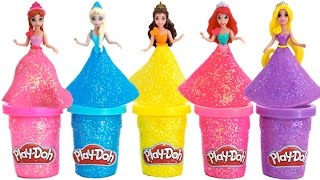 Download Play Doh Sparkle Disney Princess Dresses Ariel Elsa Belle Magiclip * Blind Bags * RainbowLearning Video